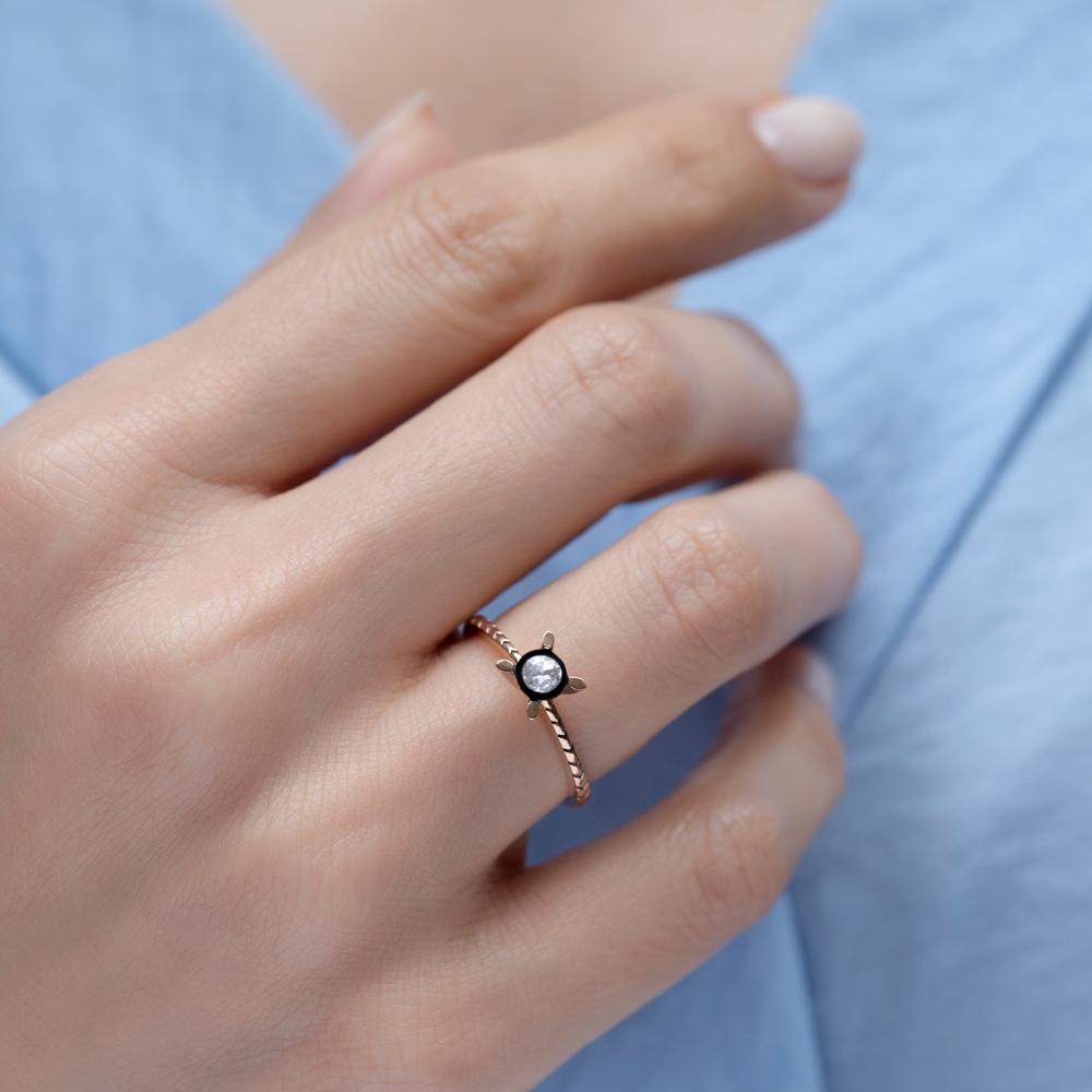Blue Diamond Elmas Yüzük