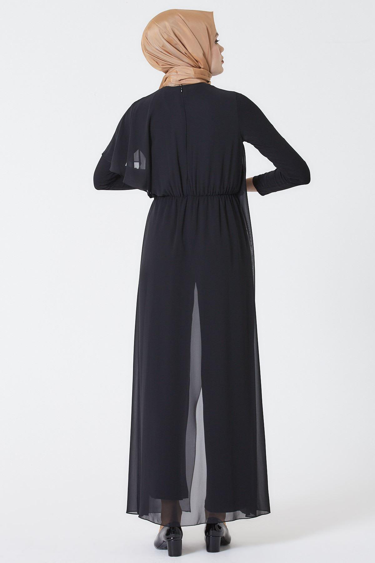Armine Abiye Elbise Siyah 3