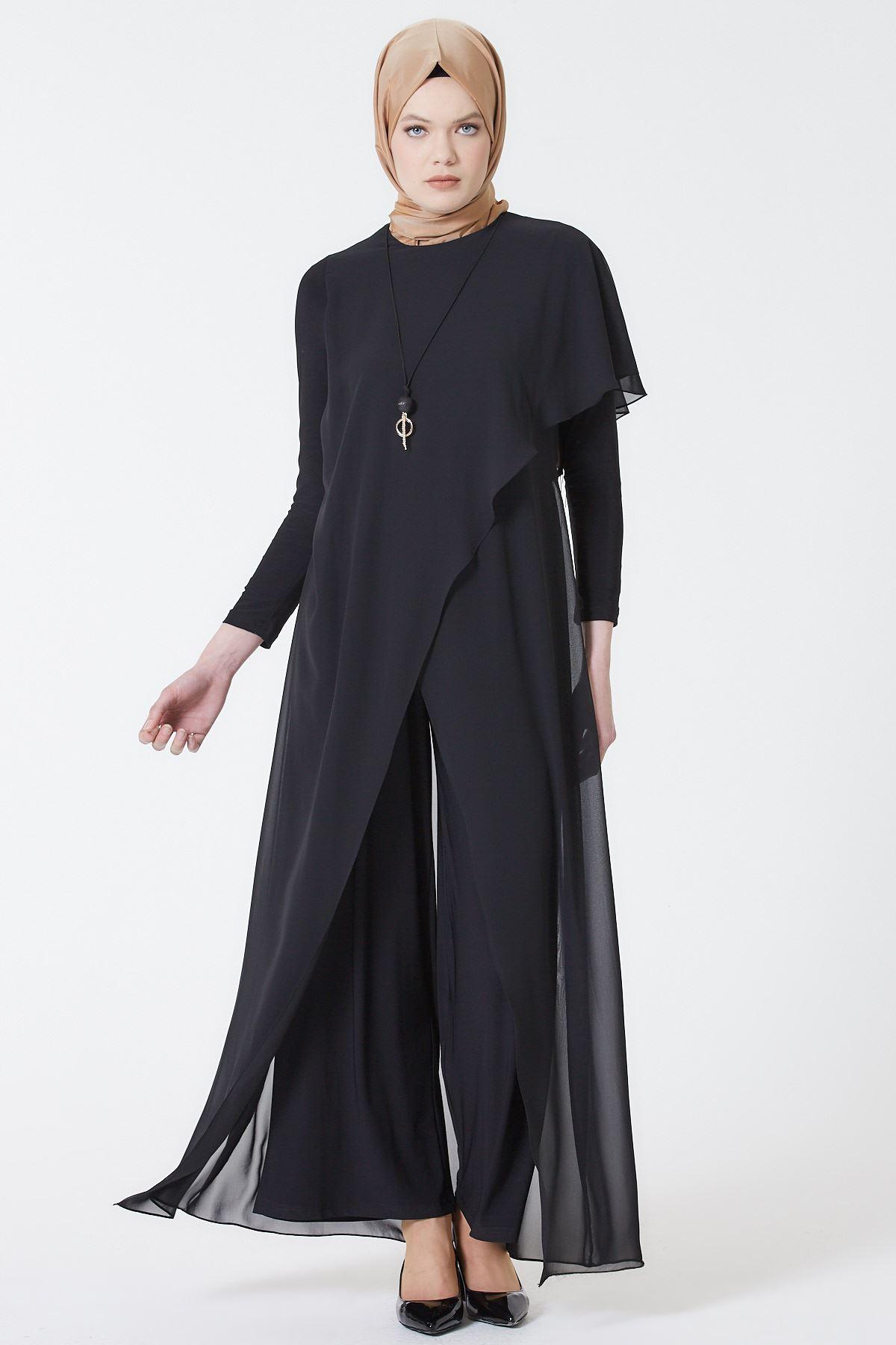 Armine Abiye Elbise Siyah 5
