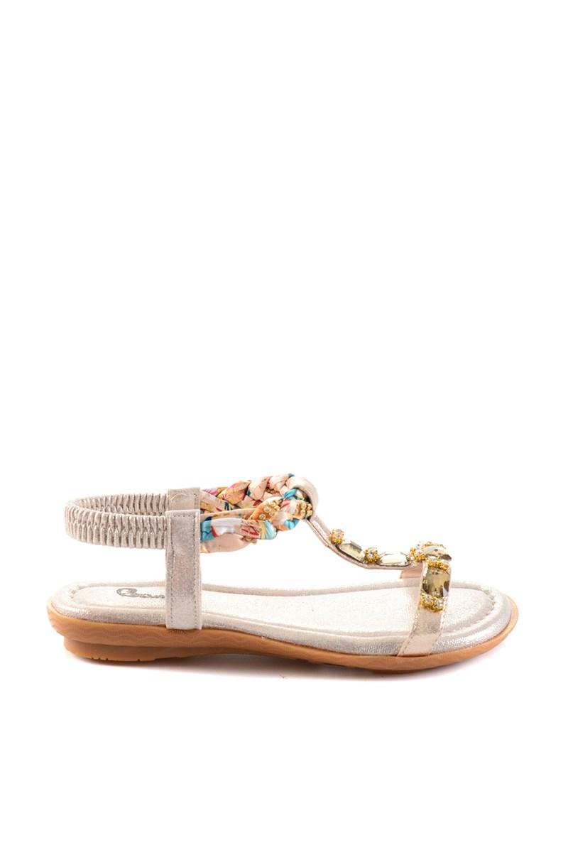 Bambi Altın Sandalet H0625010978
