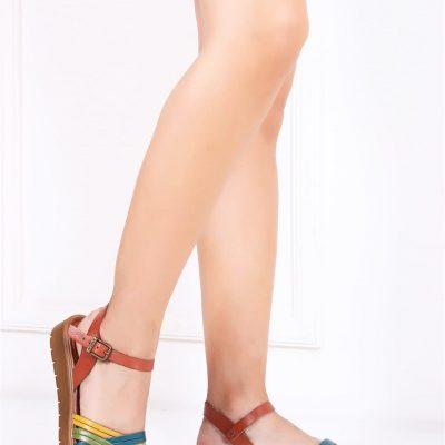 Deripabuc Hakiki Deri Multi-1 Kadın Sandalet
