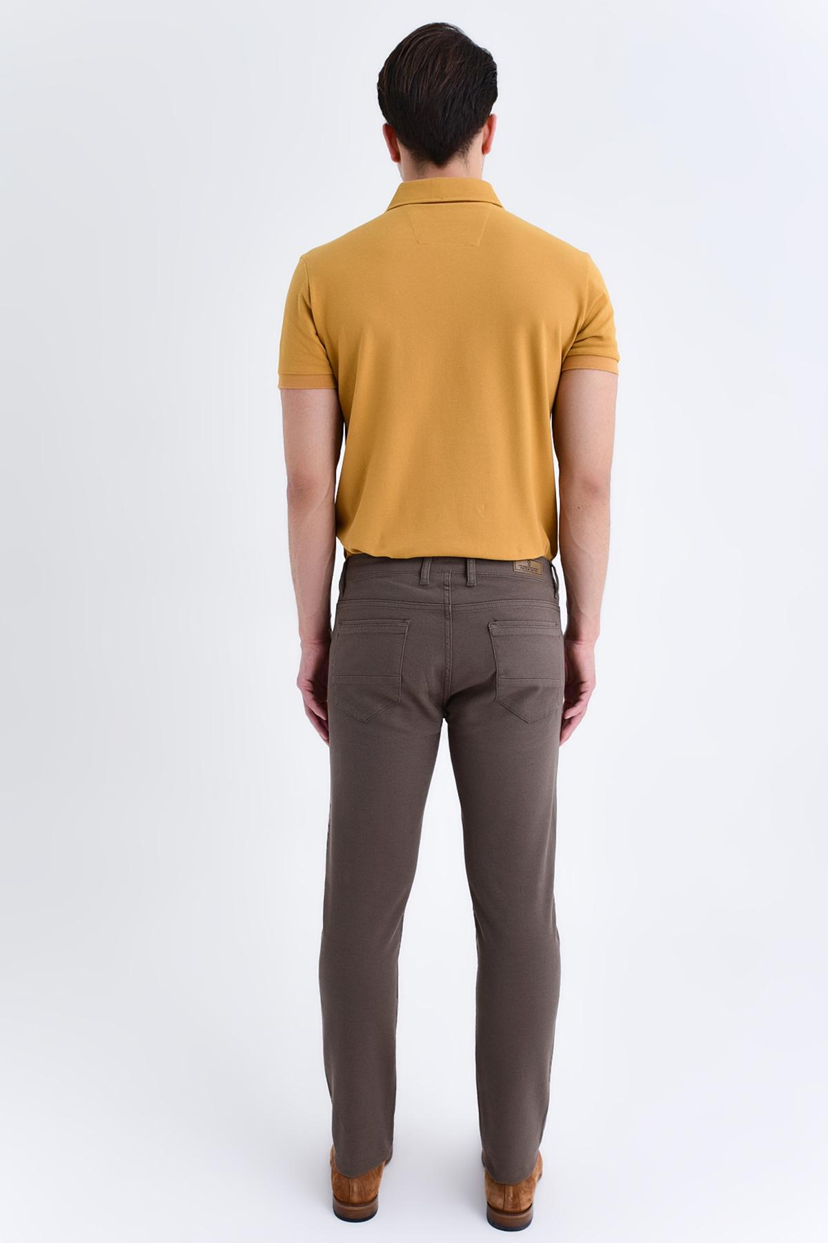 Desenli Slim Fit Pantolon