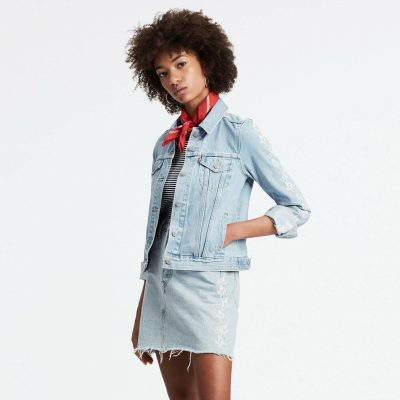 Kadın Jean Ceket Açık Mavi