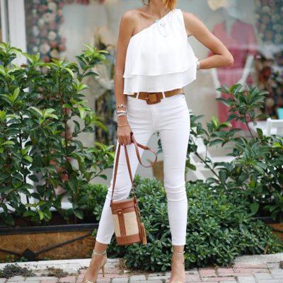 Beyaz Skinny Fit Jean