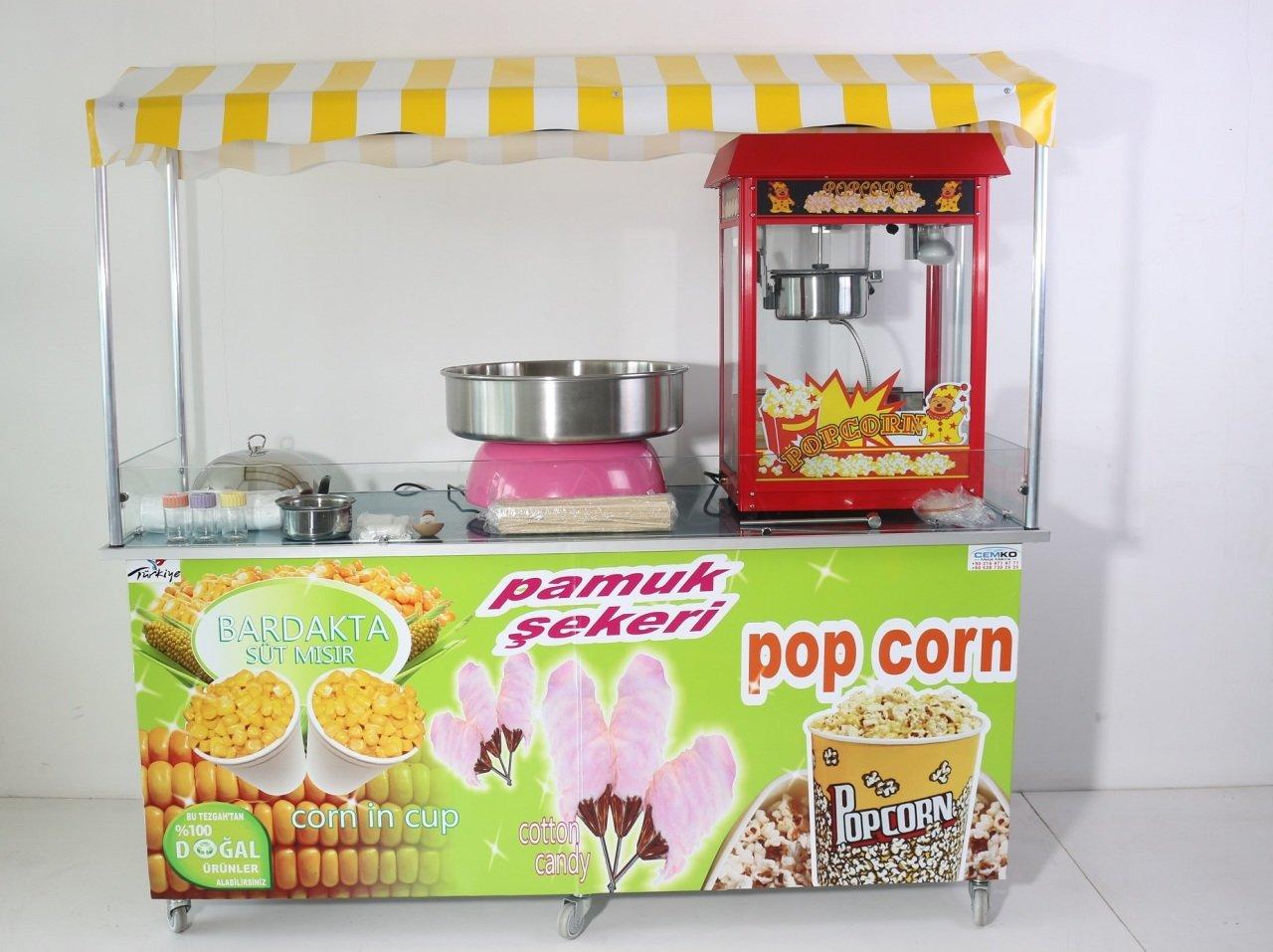 Pamuk Şeker Popcorn ve Bardakta Mısır