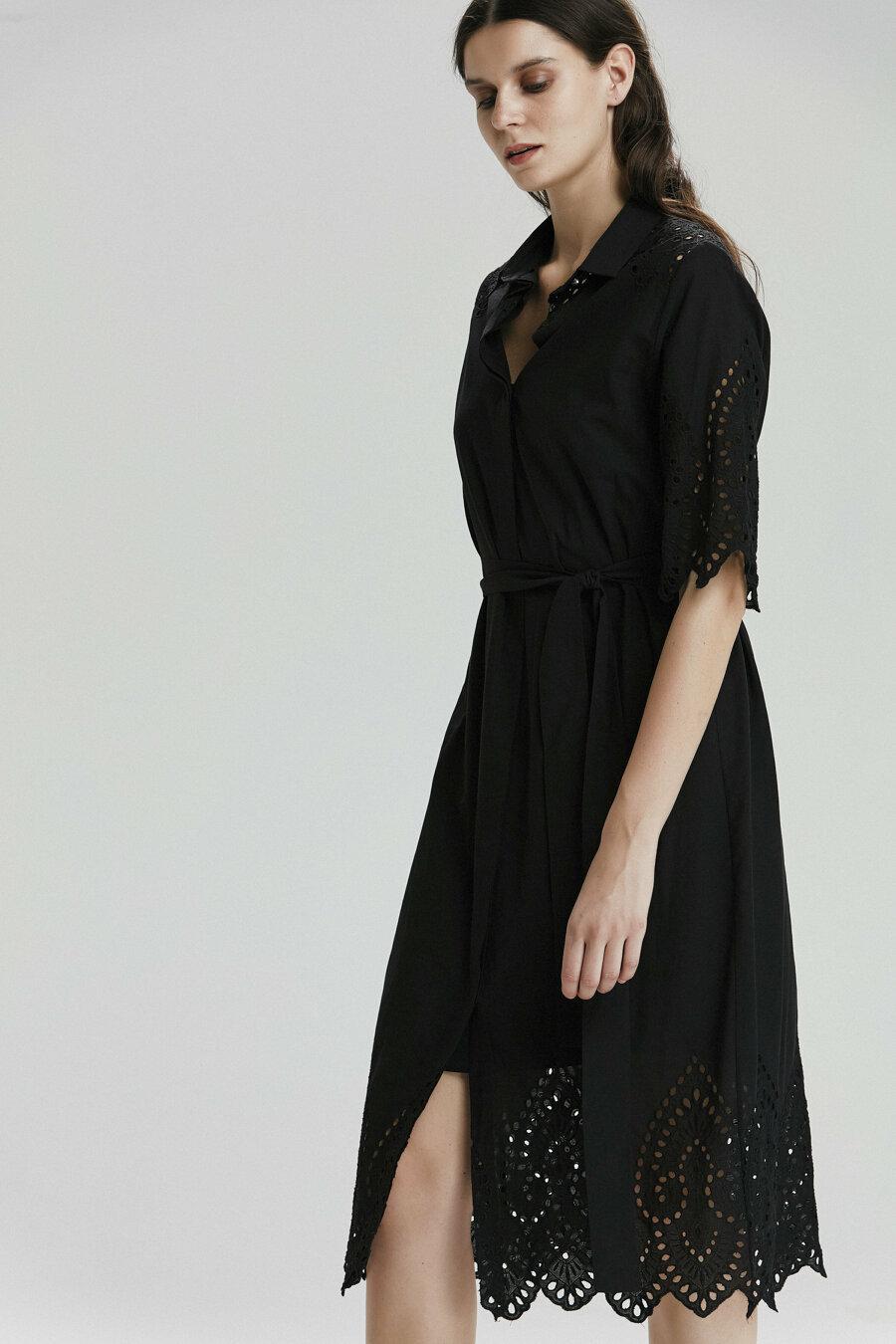 Belden Bağlamalı Elbise 1