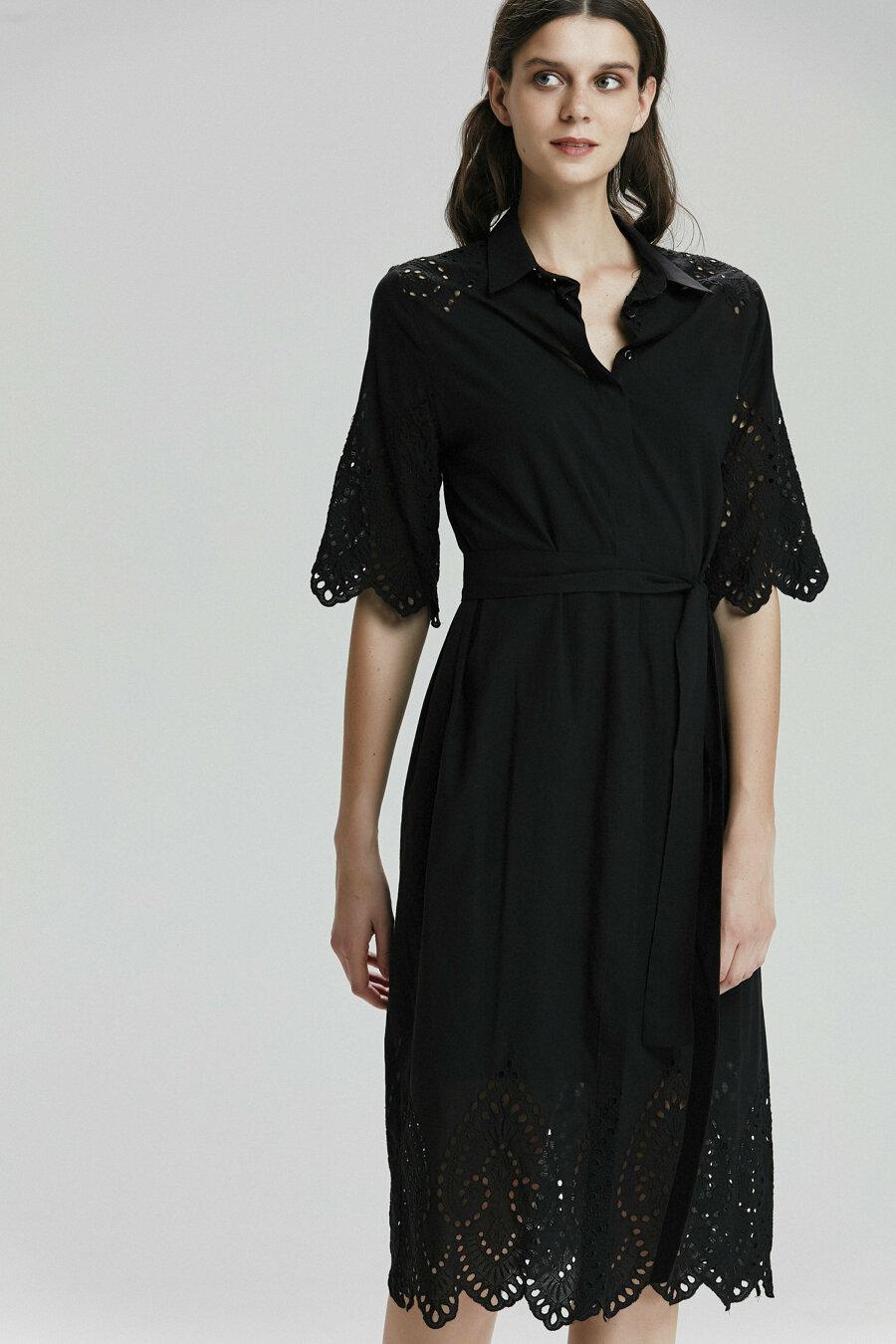 Belden Bağlamalı Elbise 2