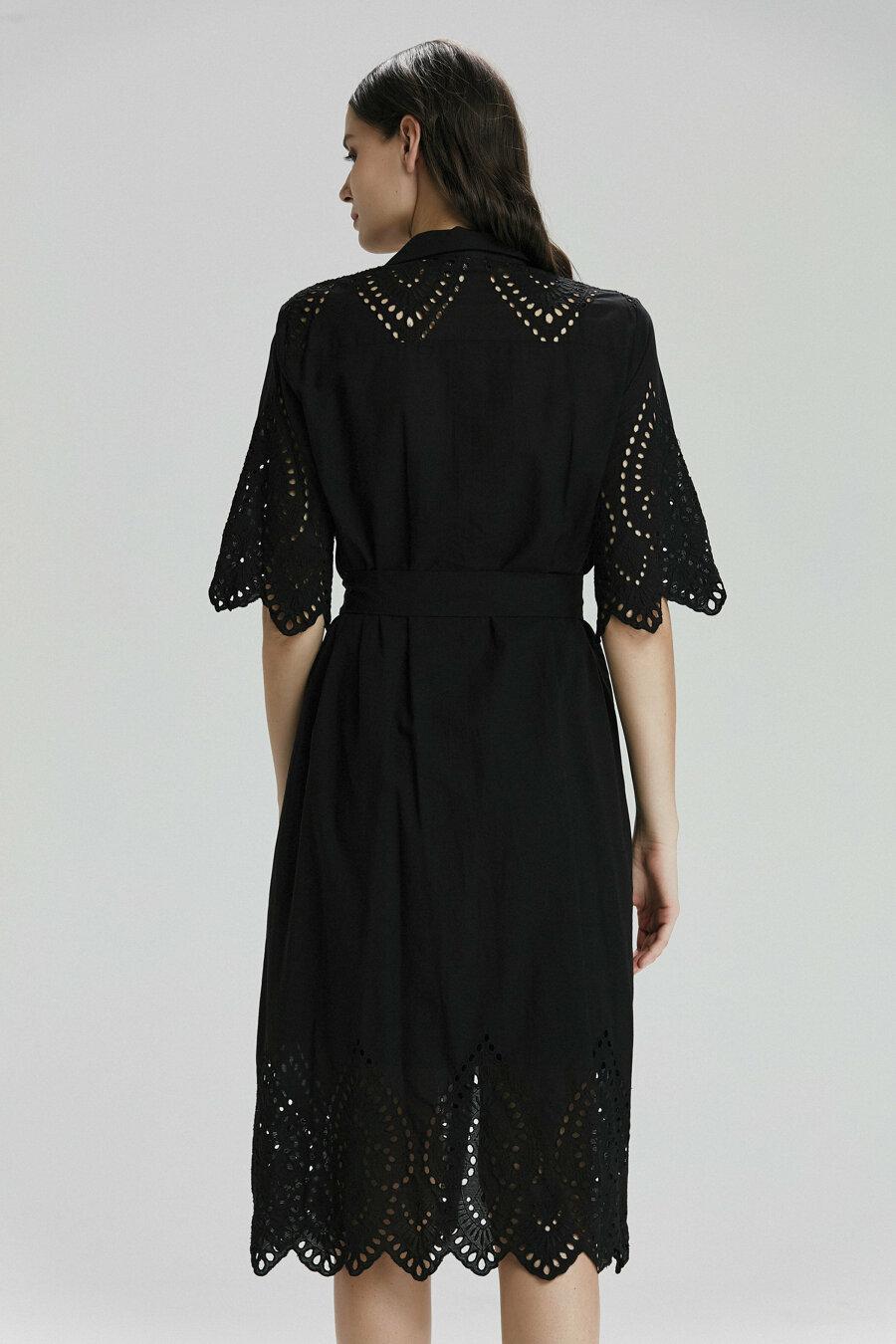 Belden Bağlamalı Elbise 3