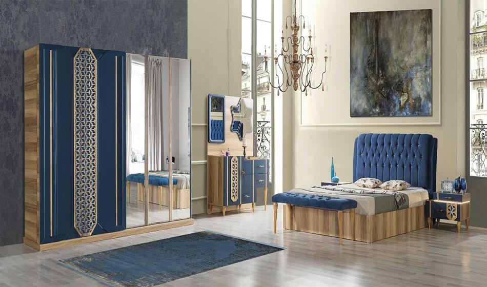 Atlantis Mavi Yatak Odası Takımı