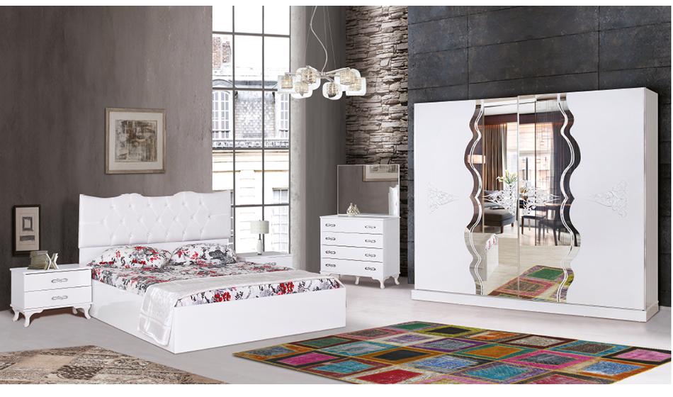 Beyza Beyaz Yatak Odası Takımı