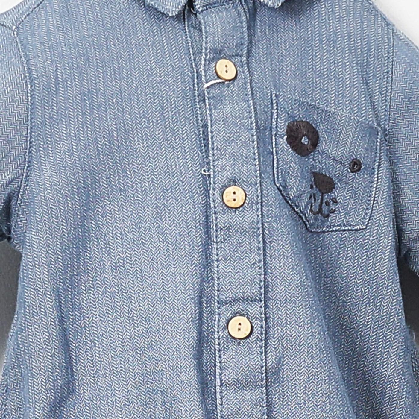 Erkek Bebek Uzun Kollu Body Gömlek 1