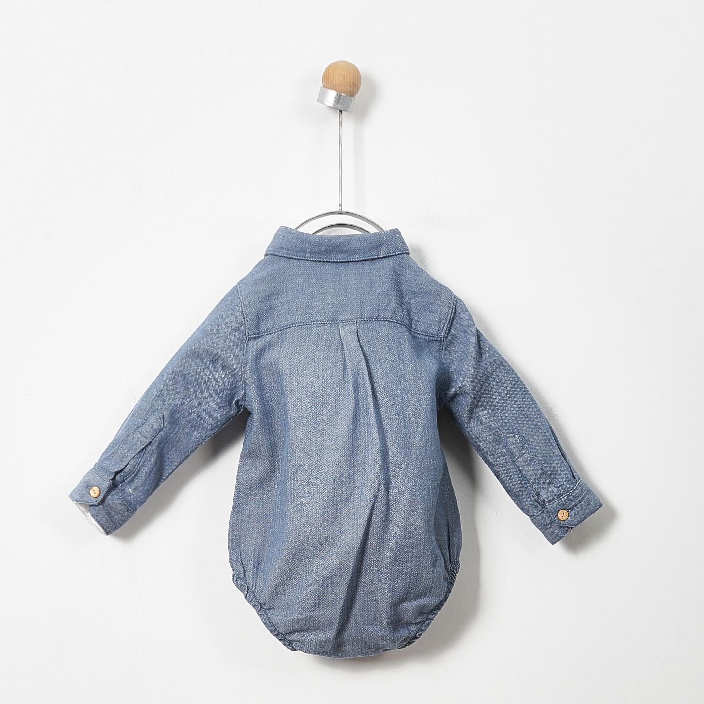 Erkek Bebek Uzun Kollu Body Gömlek 2