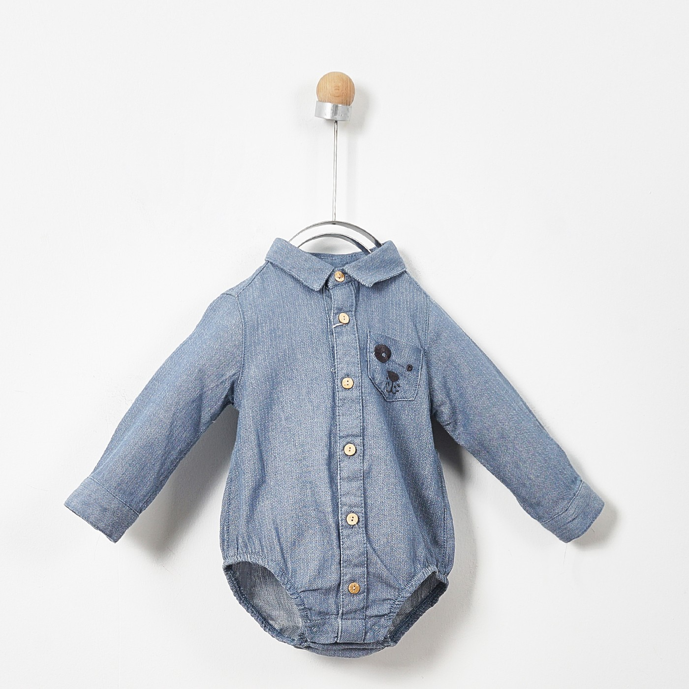Erkek Bebek Uzun Kollu Body Gömlek