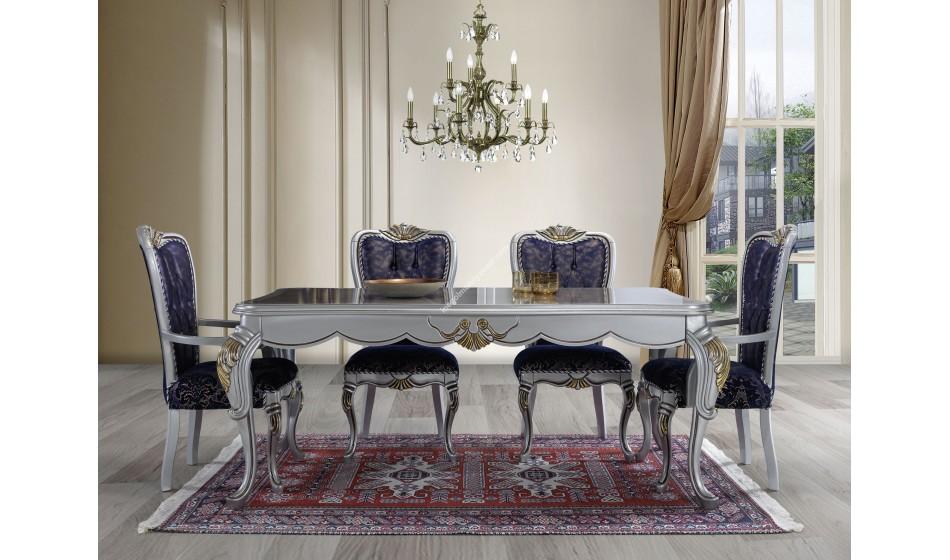 Gümüş Avangarde Yemek Odası Takımı