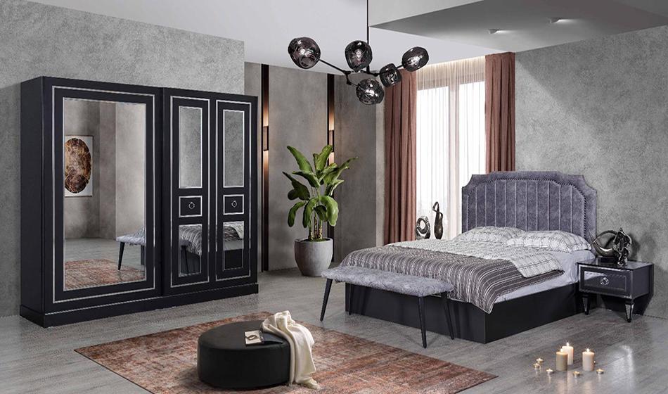 Eliz Siyah Yatak Odası Takımı