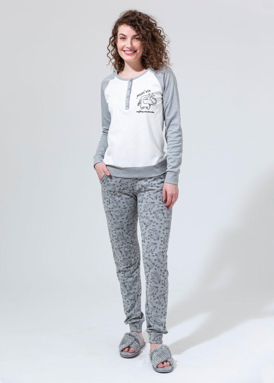 Ribana Uzun Kol Pijama Takımı
