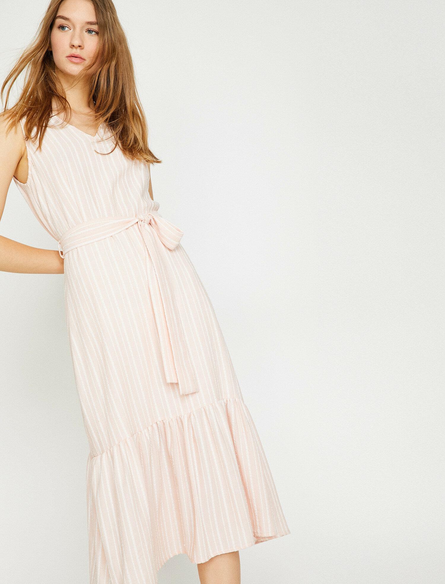 Beli Bağlamalı Elbise-