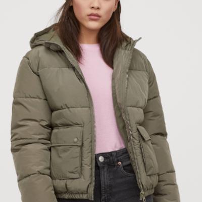 Kapüşonlu Dolgulu Ceket