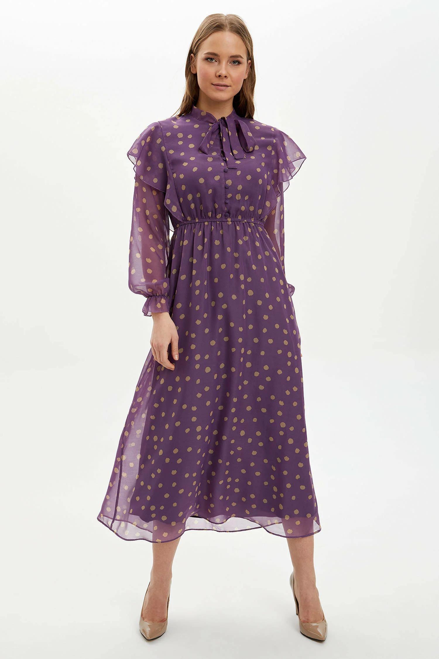 Puantiye Desenli Elbise
