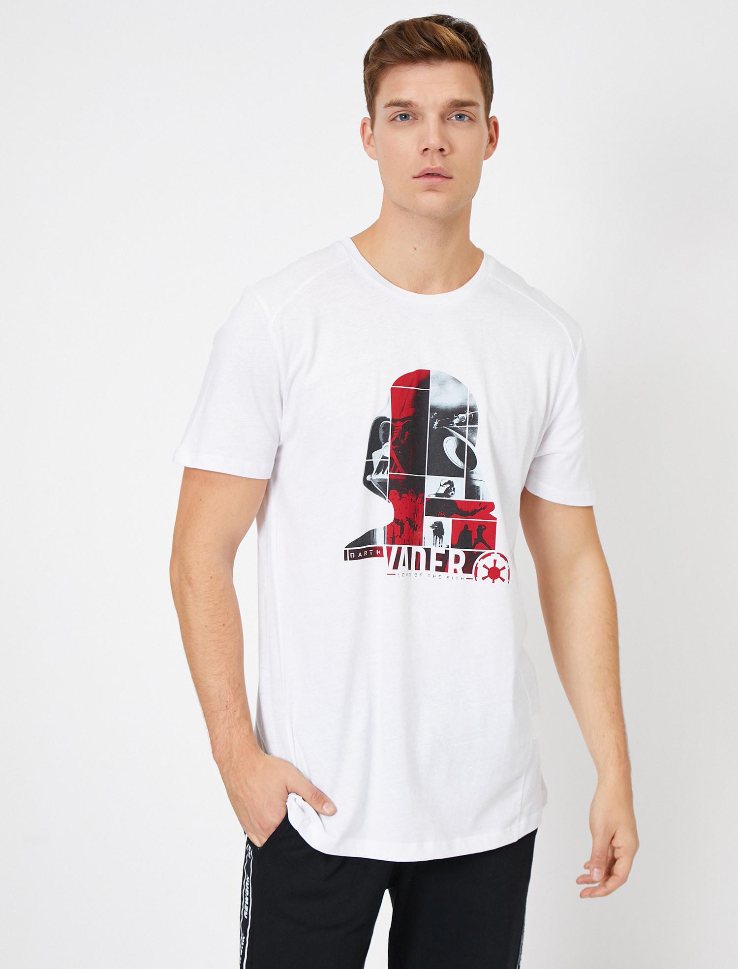 Star Wars Lisanslı Yazılı Baskılı T-Shirt