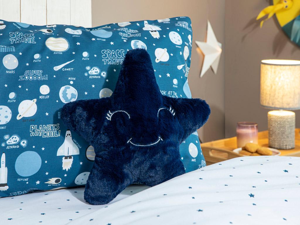 Little Stars Dekoratif Yastık Lacivert