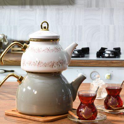 Magnolia Emaye Çaydanlık 2,5 L Yeşil-