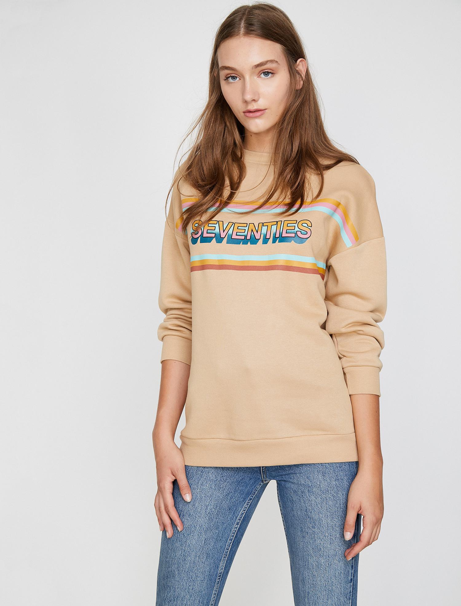 Newyork Sweatshirt - Bej