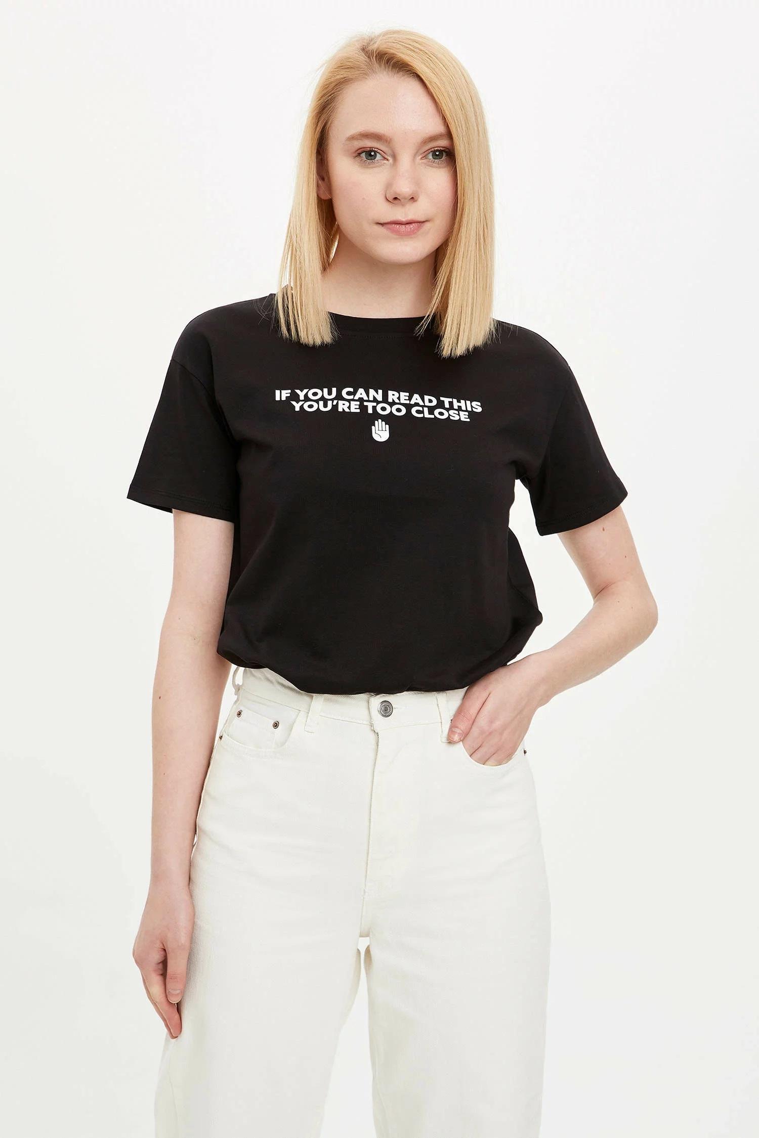 Bisiklet Yaka Regular Fit T-shirt