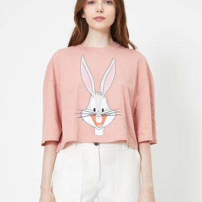 Bugs Bunny Baskılı Lisanslı Kısa Kollu Tişört