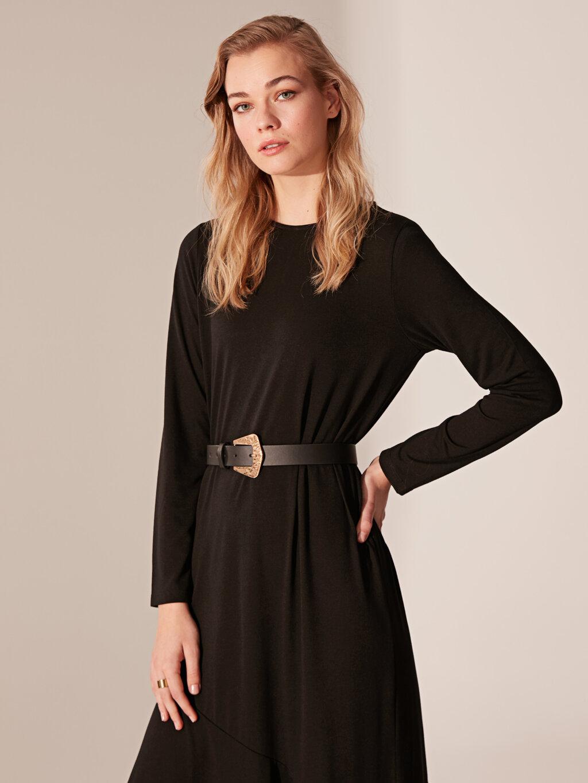 Düz Uzun Elbise-