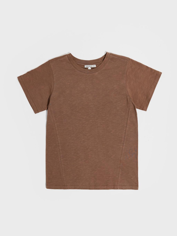 Kırçıllı Pamuklu Basic Tişört