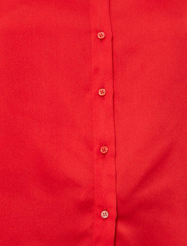 Klasik Yaka Gömlek - Kırmızı-