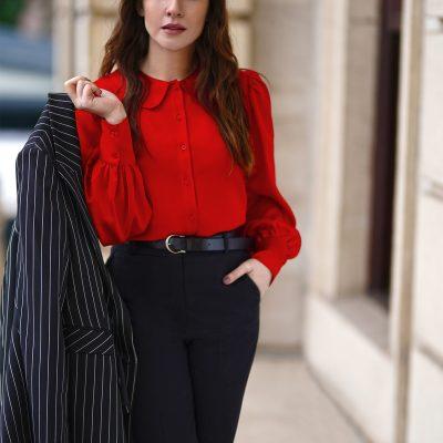 Klasik Yaka Gömlek - Kırmızı