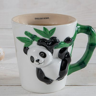 Panda Dolomite Kupa 325 Ml Beyaz - Yeşil