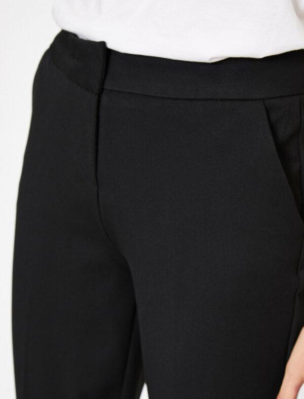 Bilek Boy Slim Fit Pantolon - Siyah-