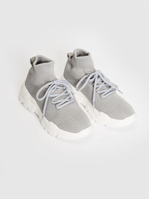 Kalın Tabanlı Bilekli Çorap Spor Ayakkabı-