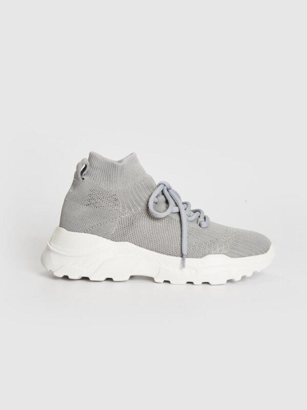 Kalın Tabanlı Bilekli Çorap Spor Ayakkabı