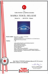 Blue Car Rental Marka Tescil Belgesi