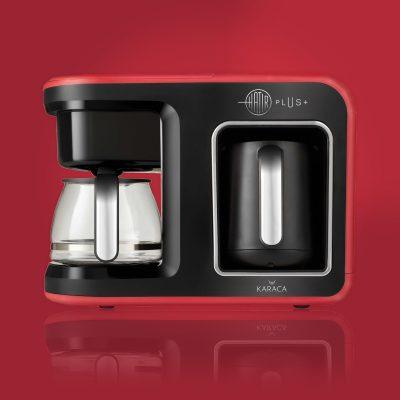 Hatır Plus 2 in 1 Kahve Makinesi Kırmızı