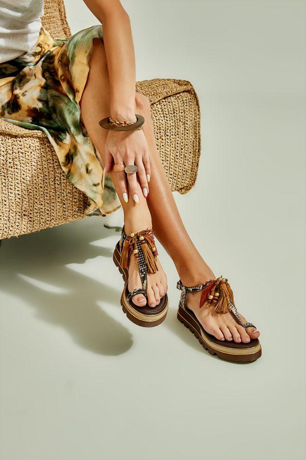 Kahve Kadın Sandalet