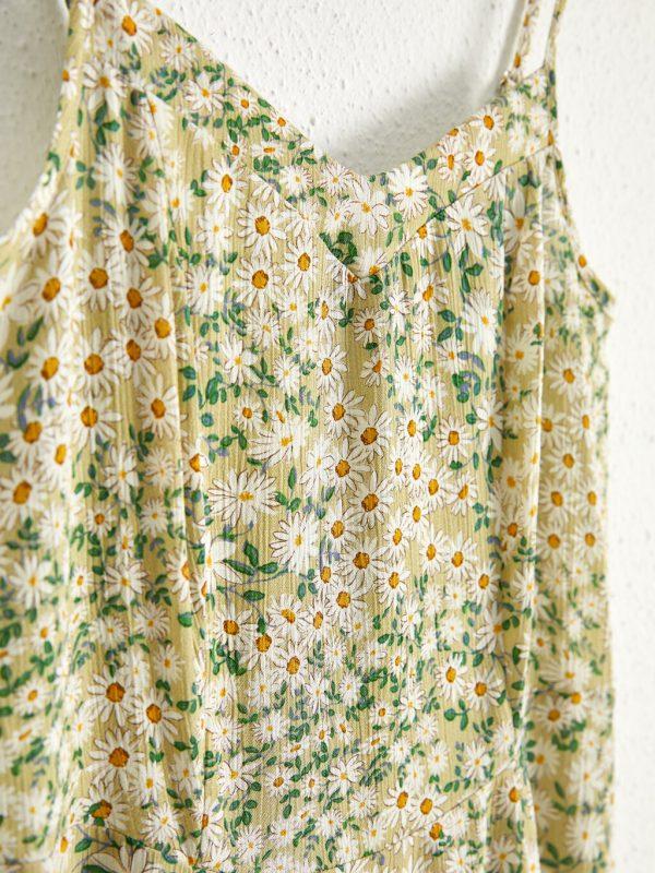 Çiçek Desenli Askılı Elbise 1