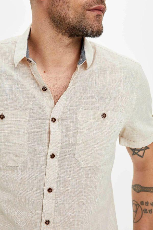Çift Cepli Slim Fit Gömlek 2