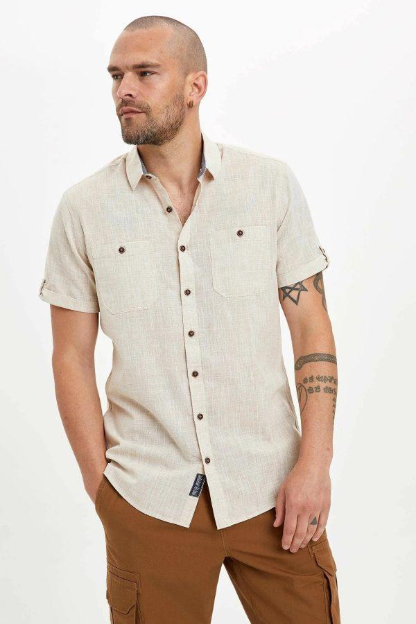 Çift Cepli Slim Fit Gömlek