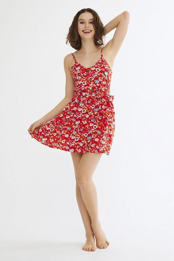 Kırmızı Alexis Elbise 2