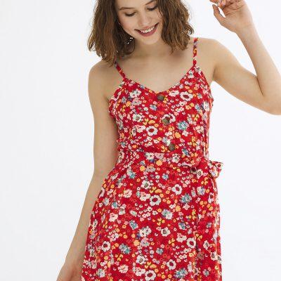 Kırmızı Alexis Elbise