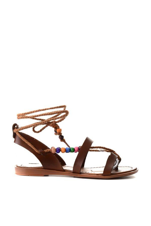 Kahverengi Kadın Sandalet 1