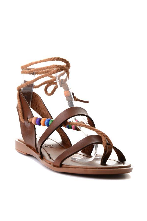 Kahverengi Kadın Sandalet 2