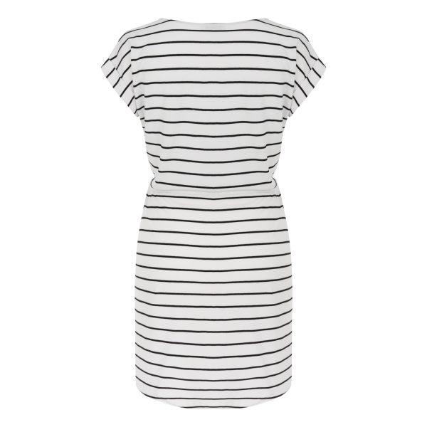Nakış Detaylı Çizgili Midi Elbise 1