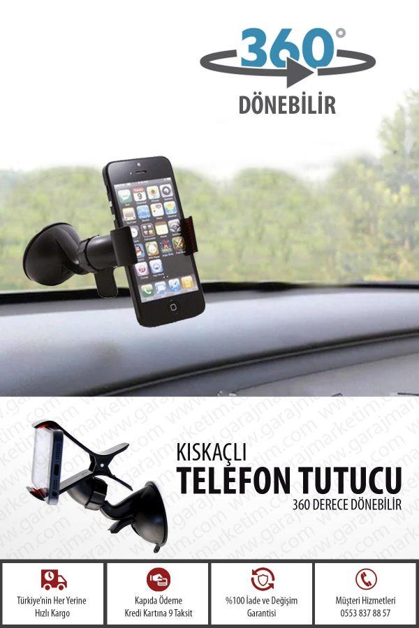 Araç Cep Telefon ve Tablet Tutucu