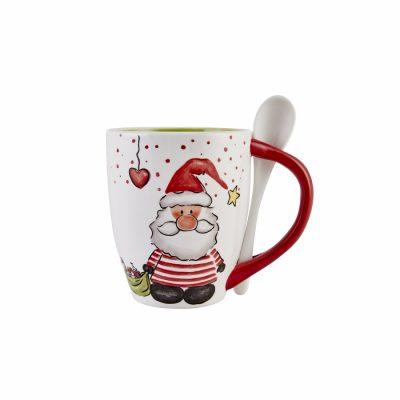 Happy New Year Noel Baba Kaşıklı Mug